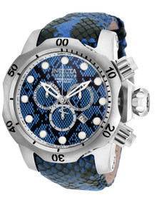 Invicta Men's 19002 Venom Quartz Chronograph Black, Blue, Light Blue Dial Watch