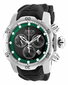 Invicta Men's 19006 Venom Quartz Chronograph Black, Green Dial Watch