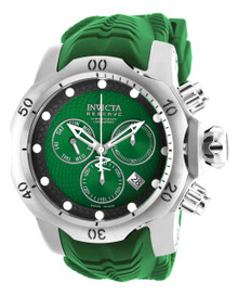 Invicta Men's 19007 Venom Quartz Chronograph Black, Green Dial Watch