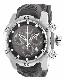 Invicta Men's 19011 Venom Quartz Chronograph Black, Grey Dial Watch