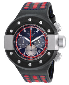 Invicta Men's 19174 S1 Rally Quartz Chronograph Black, Red, Gunmetal Dial Watch