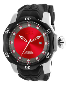 Invicta Men's 19309 Venom Automatic 3 Hand Red, Gunmetal Dial Watch