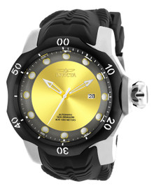 Invicta Men's 19310 Venom Automatic 3 Hand Yellow, Gunmetal Dial Watch