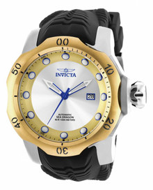 Invicta Men's 19312 Venom Automatic 3 Hand Gold, Antique Silver Dial Watch