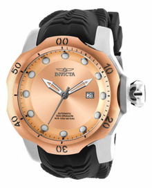 Invicta Men's 19313 Venom Automatic 3 Hand Rose Gold Dial Watch