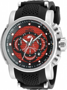 Invicta Men's 19319 S1 Rally Quartz Multifunction Red Dial Watch