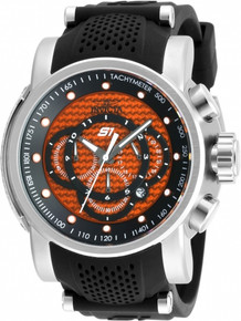 Invicta Men's 19322 S1 Rally Quartz Multifunction Orange Dial Watch