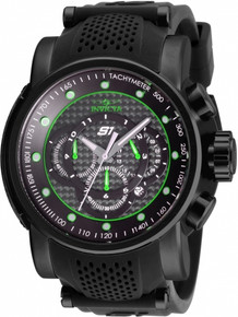 Invicta Men's 19325 S1 Rally Quartz Multifunction Black, Green Dial Watch