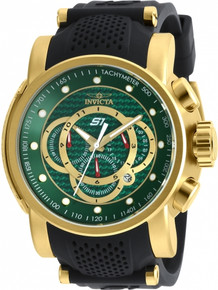 Invicta Men's 19329 S1 Rally Quartz Multifunction Green Dial Watch