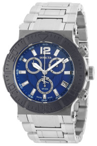 Invicta Men's 19596 Reserve Quartz Chronograph Blue Dial Watch