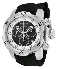 Invicta Men's 19913 Venom Quartz Chronograph Black, White Dial Watch