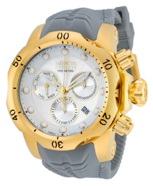 Invicta Men's 19919 Venom Quartz Chronograph White, Silver Dial Watch