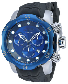 Invicta Men's 19923 Venom Quartz Chronograph Black, Blue Dial Watch