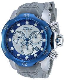 Invicta Men's 19924 Venom Quartz Chronograph Blue, Silver Dial Watch