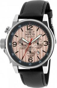 Invicta Men's 20134 I-Force Quartz Chronograph Black, Rose Gold Dial Watch