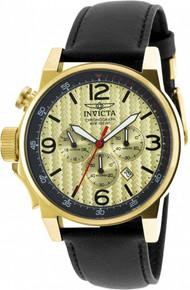 Invicta Men's 20137 I-Force Quartz Chronograph Black, Gold Dial Watch