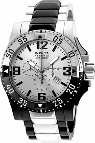 Invicta Men's 20142 Excursion Quartz 3 Hand Silver Dial Watch