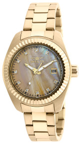 Invicta Women's 20352 Specialty Quartz 3 Hand Gold Dial Watch
