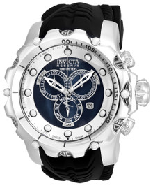 Invicta Men's 20396 Venom Quartz Chronograph Black, Silver Dial Watch