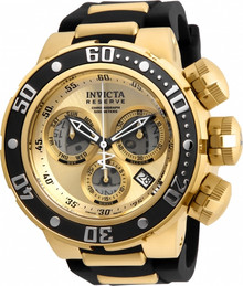 Invicta Men's 21641 Reserve Quartz Chronograph Grey, Gold Dial Watch