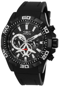 Invicta Men's 21741 Aviator Quartz Multifunction Black Dial Watch
