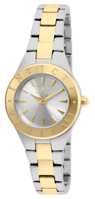 Invicta Women's 21745 Wildflower Quartz 3 Hand Silver, Gold Dial Watch