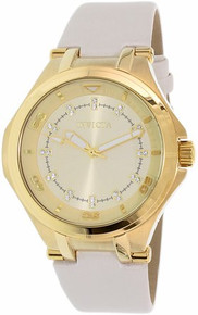 Invicta Women's 21756 Wildflower Quartz 3 Hand Gold Dial Watch