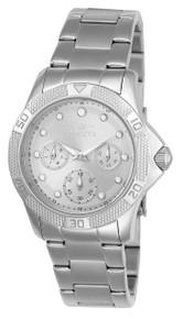 Invicta Women's 21764 Angel Quartz Chronograph White, Silver Dial Watch