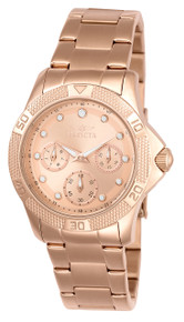 Invicta Women's 21765 Angel Quartz Chronograph White, Rose Gold Dial Watch