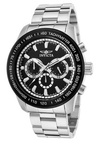 Invicta Men's 21796 Speedway Quartz Chronograph Black Dial Watch