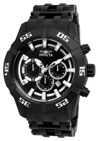 Invicta Men's 21824 Sea Spider Quartz Chronograph Black Dial Watch