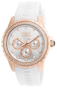 Invicta Women's 21901 Angel Quartz Chronograph Silver Dial Watch