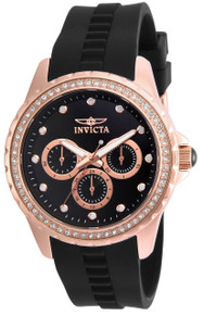 Invicta Women's 21902 Angel Quartz Chronograph Black Dial Watch