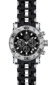 Invicta Men's 22086 Sea Spider Quartz Chronograph Black Dial Watch