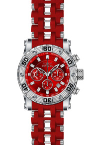 Invicta Men's 22088 Sea Spider Quartz Chronograph Red Dial Watch