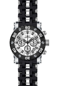 Invicta Men's 22089 Sea Spider Quartz Chronograph Silver Dial Watch