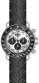Invicta Men's 22136 Reserve Quartz Chronograph Black, Silver Dial Watch