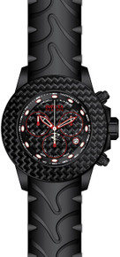 Invicta Men's 22143 Reserve Quartz Chronograph Black, Red Dial Watch