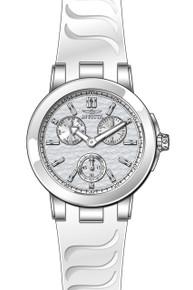 Invicta Women's 22195 Ceramics Quartz Chronograph Silver Dial Watch