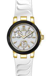 Invicta Women's 22205 Ceramics Quartz Chronograph Silver Dial Watch