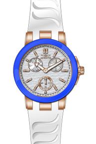 Invicta Women's 22206 Ceramics Quartz Chronograph Silver Dial Watch
