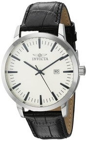 Invicta Men's 22314 Specialty Quartz 3 Hand Ivory Dial Watch