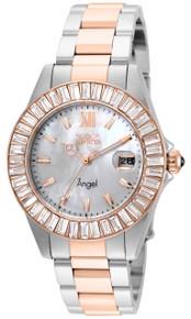 Invicta Women's 22325 Angel Quartz 3 Hand White Dial Watch