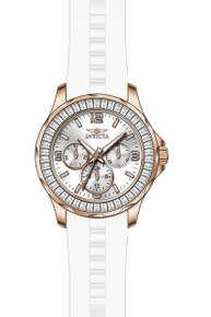 Invicta Women's 22471 Angel Quartz Chronograph Silver Dial Watch