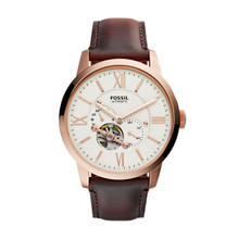 Fossil Townsman Automatic Leather Watch ME3105