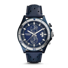 Fossil Men's CH3012 Wakefield Chronograph Watch With Blue Leather Band
