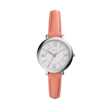 Fossil Women's ES3938 Mini Jacqueline Three-Hand Date Papaya Leather Watch