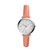Fossil Women's ES3938 Mini Jacqueline Three-Hand Date Papaya Leather Watch