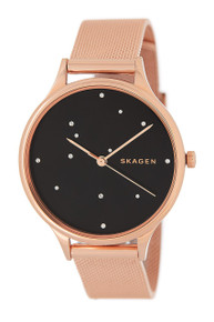 Skagen Anita Black Dial With Crystals Ladies Watch SKW2408