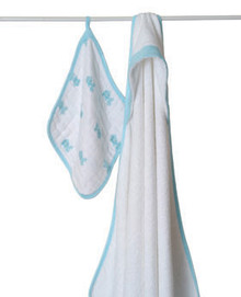 Hide and Sea Hooded Towel Set towel & washcloth sets By Aden and Anais